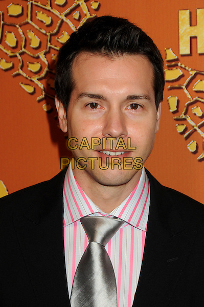 JON SEDA.HBO's 2010 67th Golden Globe Awards Post Party held at the Beverly Hilton Hotel, Beverly Hills, California, USA. .January 17th, 2009 .globes headshot portrait black pink white silver tie.CAP/ADM/BP.©Byron Purvis/Admedia/Capital Pictures