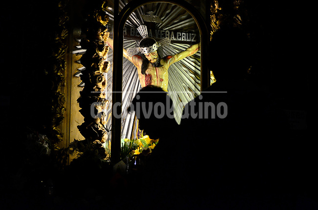 San Francisco church during Easter in La Paz, Bolivia