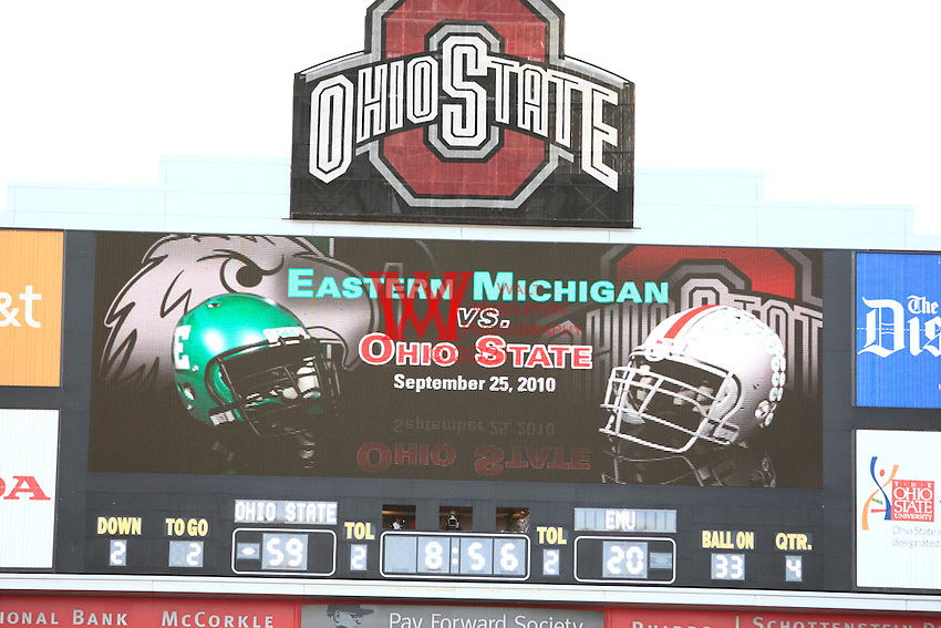 Eastern Michigan University Football team @ The Ohio State University, Columbus, Ohio.09-25-2010