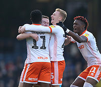 Blackpool's Oliver Turton celebrates scoring his side's first goal with his team mates<br /> <br /> Photographer Rob Newell/CameraSport<br /> <br /> The EFL Sky Bet League One - Southend United v Blackpool - Saturday 17th November 2018 - Roots Hall - Southend<br /> <br /> World Copyright &copy; 2018 CameraSport. All rights reserved. 43 Linden Ave. Countesthorpe. Leicester. England. LE8 5PG - Tel: +44 (0) 116 277 4147 - admin@camerasport.com - www.camerasport.com