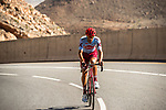 Reto Hollenstein (SUI) Team Katusha Alpecin climbs towards the finish of Stage 5 of the 10th Tour of Oman 2019, running 152km from Samayil to Jabal Al Akhdhar (Green Mountain), Oman. 20th February 2019.<br /> Picture: ASO/K&aring;re Dehlie Thorstad | Cyclefile<br /> All photos usage must carry mandatory copyright credit (&copy; Cyclefile | ASO/K&aring;re Dehlie Thorstad)