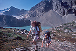 Whistler, Coast Range, British Columbia, Canada, young hikers, summer,