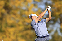 Sergio Garcia (ESP)(Team Europe) on the 17th tee during Sunday Singles matches at the Ryder Cup, Hazeltine National Golf Club, Chaska, Minnesota, USA.  02/10/2016<br /> Picture: Golffile   Fran Caffrey<br /> <br /> <br /> All photo usage must carry mandatory copyright credit (&copy; Golffile   Fran Caffrey)