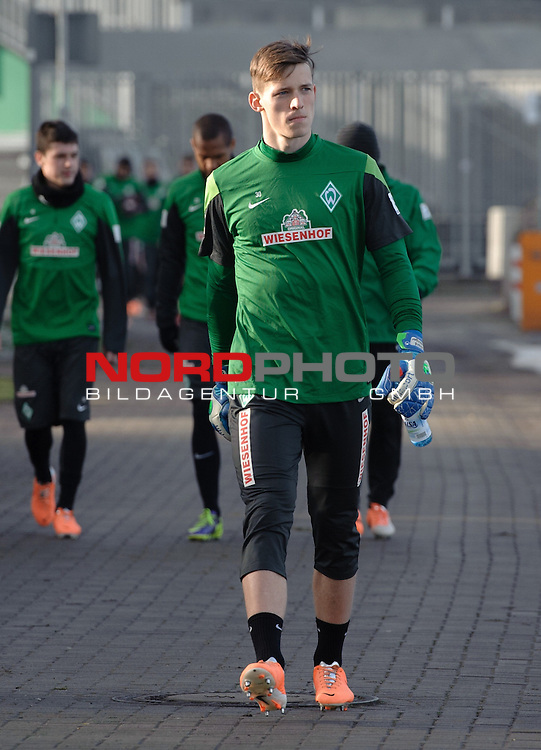 03.02.2014, Trainingsgelaende, Bremen, GER, 1.FBL, Training Werder Bremen, im Bild Richard Strebinger (Bremen #30)<br /> <br /> Foto &copy; nordphoto / Frisch