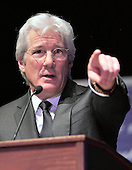 Actor Richard Gere speaks at an event where Chen Guangcheng, the blind Chinese legal activist, accepted the Tom Lantos Human Rights Prize in the United States Capitol on January 29, 2013..Credit: Ron Sachs