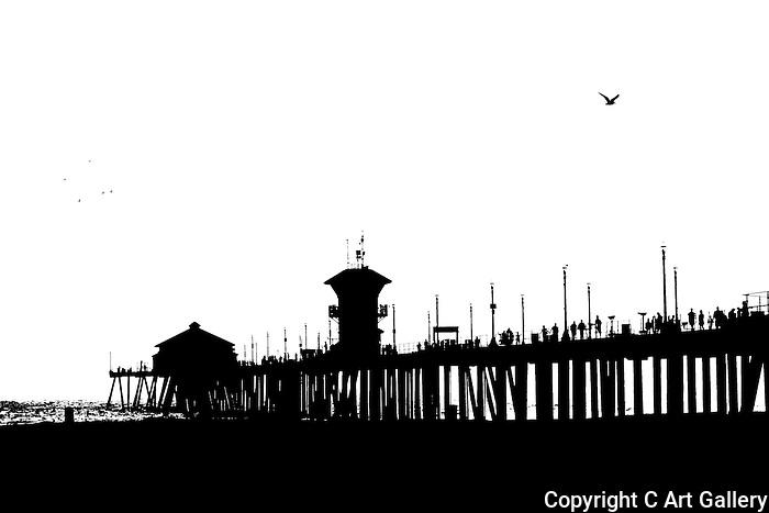 Pier (lith), Huntington Beach, CA