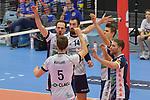 02.12.2017,  Hamburg GER, VBL, SVG Lueneburg vs United Volleys Rhein-Main  im Bild die Lueneburger Mannschaft jubelt / Foto © nordphoto / Witke