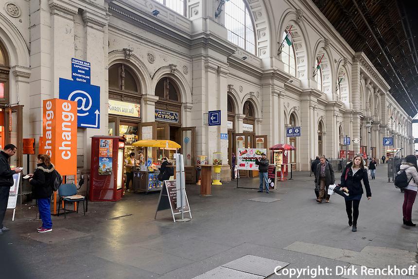 Ostbahnhof, Keleti Pályaudvar von 1884, Budapest, Ungarn