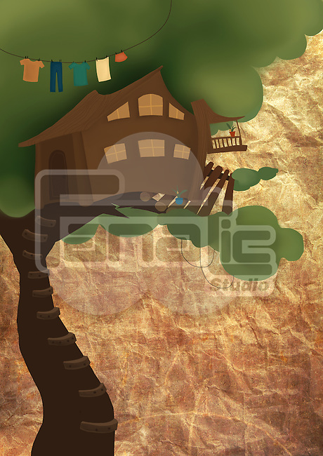 Illustrative image of tree house