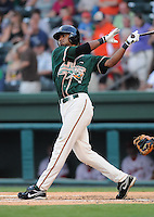 August 13, 2009: Outfielder Isaac Galloway (27) of the Greensboro Grasshoppers, Class A affiliate of the Florida Marlins, in a game at Fluor Field at the West End in Greenville, S.C. Photo by: Tom Priddy/Four Seam Images