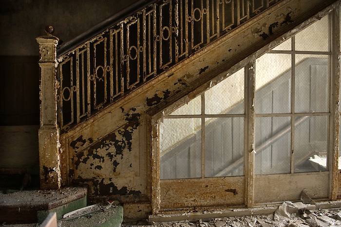 Iron Stairway of the Buck Hill Falls Inn in the Pocono's