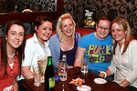 Michelle Hurley, Jade Cambell, Allanah Gerrard, Dei Johnson and Carla Kierans enjoying a night out in Grennans...Photo NEWSFILE/Jenny Matthews.(Photo credit should read Jenny Matthews/NEWSFILE)....This Picture has been sent you under the condtions enclosed by:.Newsfile Ltd..The Studio,.Millmount Abbey,.Drogheda,.Co Meath..Ireland..Tel: +353(0)41-9871240.Fax: +353(0)41-9871260.GSM: +353(0)86-2500958.email: pictures@newsfile.ie.www.newsfile.ie.FTP: 193.120.102.198.