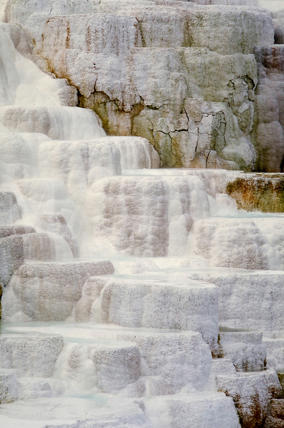 Mammoth Hot Springs. Yellowstone National Park Wyoming USA.