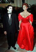 Actress Sophia Loren arrives at the White House in Washington, D.C. for the Official Dinner honoring President Romano Prodi of Italy with Conductor Carlo Ponti, Jr. on May 6, 1998.Credit: Ron Sachs / CNP