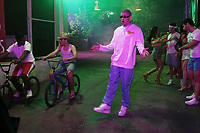 MIAMI, FLORIDA - MAY 29, 2018 Bad Bunny on the set of Cardi B's I Like It video shoot March 28, 2018 in Miami, Florida. <br /> CAP/MPI/WG<br /> &copy;WG/MPI/Capital Pictures