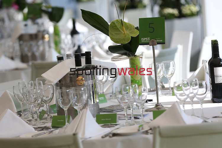 ISPS Handa Wales Open<br /> Corporate hospitality in the Waitrose marquee.<br /> Celtic Manor Resort<br /> 21.09.14<br /> ©Steve Pope-SPORTINGWALES