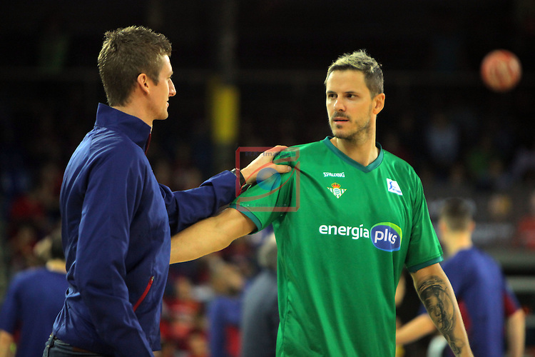 League ACB-ENDESA 2016/2017. Game: 5.<br /> FC Barcelona Lassa vs BEP-Real Betis Energia Plus: 80-58.<br /> Justin Doellman &amp; Bostjan Nachbar.