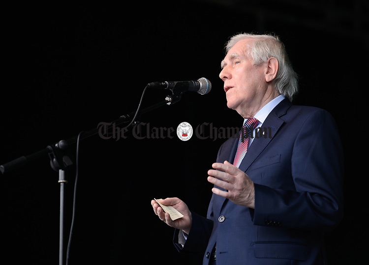 CCE Director General, Senator Labhras O'Murchu speaking at the official opening of the All-Ireland Fleadh 2017 in Ennis. Photograph by John Kelly.