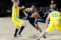 July 12, 2016: STEPHEN THOMPSON JR (2) of the Oregon State Beavers drives to the basket during game 1 of the Australian Boomers Farewell Series between the Australian Boomers and the American PAC-12 All-Stars at Hisense Arena in Melbourne, Australia. Sydney Low/AsteriskImages.com
