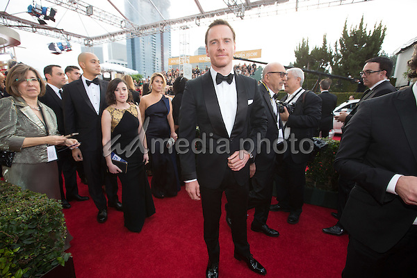 "Nominated for BEST PERFORMANCE BY AN ACTOR IN A MOTION PICTURE – DRAMA for his role in ""Steve Jobs,"" actor Michael Fassbender attends the 73rd Annual Golden Globes Awards at the Beverly Hilton in Beverly Hills, CA on Sunday, January 10, 2016. Photo Credit: HFPA/AdMedia"