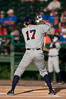 Josh Prince (17) of the Brevard County Manatees during a game vs. the Daytona Beach Cubs May 25 2010 at Jackie Robinson Ballpark in Daytona Beach, Florida. Daytona won the game against Brevard by the score of 5-3.  Photo By Scott Jontes/Four Seam Images