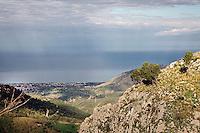 View from Gratteri,in  Madonie mountains natural park in Sicily.<br /> Panorama da Gratteri nel parco naturale delle Madonie in Sicilia