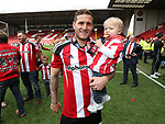 Sheffield United's Billy Sharp celebrates during the League One match at Bramall Lane, Sheffield. Picture date: April 30th, 2017. Pic David Klein/Sportimage