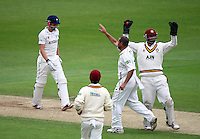 PICTURE BY VAUGHN RIDLEY/SWPIX.COM - Cricket - County Championship, Div 2 - Yorkshire v Northamptonshire, Day 3  - Headingley, Leeds, England - 01/06/12 - Yorkshire's Joe Root is caught out by Northamptonshire's David Murphy off the bowling of Andrew Hall.