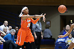 10 February 2017: Syracuse's Brittney Sykes. The Duke University Blue Devils hosted the Syracuse University Orange at Cameron Indoor Stadium in Durham, North Carolina in a 2016-17 Division I Women's Basketball game. Duke won the game 72-55.
