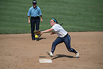 30 MAY 2016: Emily Quatrale (2) of Messiah College catches a force-out at second base during the Division III Women's Softball Championship is held at the James I Moyer Sports Complex in Salem, VA.  University of Texas-Tyler defeated Messiah College 7-0 for the national title. Don Petersen/NCAA Photos