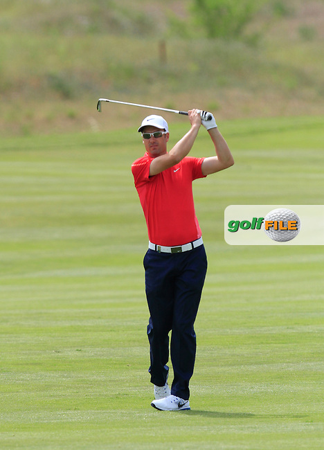 Ross Fisher (ENG) on the 2nd during the Pro-Am of the Open de Espana  in Club de Golf el Prat, Barcelona on Wednesday 13th May 2015.<br /> Picture:  Thos Caffrey / www.golffile.ie