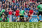 Danny O'Sullivan Glenbeigh Glencar in action against  Rock Saint Patricks in the Junior Football All Ireland Final in Croke Park on Sunday.