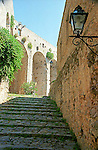 Passage leading to the upper parts of the Castle in Portovenere Italy.