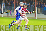 Causeway's Tommy Barrett and St Brendan's Kevin Skinner.