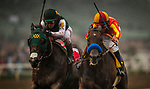 ARCADIA, CA - MARCH 10: Bolt d'Oro #1, ridden by Javier Castellano wins the San Felipe Stakes via disqualification over Mckinzie #4, ridden Mike Smith at Santa Anita Park on March 10, 2018 in Arcadia, California. (Photo by Alex Evers/Eclipse Sportswire/Getty Images)