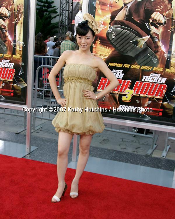 "Zhang Jing Chu.""Rush Hour 3"" Premiere.Grauman's Chinese.Los Angeles, CA.July 30, 2007.©2007 Kathy Hutchins / Hutchins Photo...."