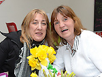 Roseanna Tuite and Joan Fox pictured at the Boomerang Cafe Coffee Morning in aid of Daffodil Day. Photo:Colin Bell/pressphotos.ie