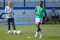 20190301 - LARNACA , CYPRUS : Nigerian head coach Thomas Dennerby (left) pictured during a women's soccer game between Slovakia and Nigeria , on Friday 1 March 2019 at the Antonis Papadopoulos Stadium in Larnaca , Cyprus . This is the second game in group C for both teams during the Cyprus Womens Cup 2019 , a prestigious women soccer tournament as a preparation on the Uefa Women's Euro 2021 qualification duels and FIFA Women's World Cup 2019 in France . PHOTO SPORTPIX.BE | STIJN AUDOOREN