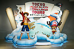 """Tokyo Tower opens One Piece attraction on March 13, 2015, Tokyo, Japan. Characters of the Japanese manga series One Peace on display at the new """"Tokyo One Piece Tower"""" theme park in Tokyo Tower. The new attraction opened on March 13th and is based on the best selling Japanese manga series, One Piece, which was written and illustrated by Eiichiro Oda. The attraction features shows and themed food and souvenirs and is hoped to bring more visitors to Tokyo Tower. (Photo by Rodrigo Reyes Marin/AFLO)"""