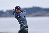 Bernd Wiesberger (AUT) watches his tee shot on 18 during round 4 of the 2019 US Open, Pebble Beach Golf Links, Monterrey, California, USA. 6/16/2019.<br /> Picture: Golffile | Ken Murray<br /> <br /> All photo usage must carry mandatory copyright credit (© Golffile | Ken Murray)