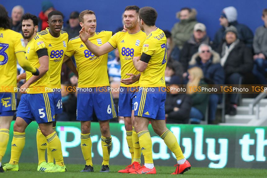 Harlee Dean of Birmingham City sscores and celebrates during Queens Park Rangers vs Birmingham City, Sky Bet EFL Championship Football at Loftus Road Stadium on 9th February 2019