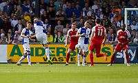 Billy Bodin of Bristol Rovers scores his side's second goal during the Sky Bet League 1 match between Bristol Rovers and Fleetwood Town at the Memorial Stadium, Bristol, England on 26 August 2017. Photo by Mark  Hawkins.