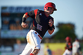 Batavia Muckdogs designated hitter Alex Jones (55) running the bases during the second game of a doubleheader against the Auburn Doubledays on September 4, 2016 at Dwyer Stadium in Batavia, New York.  Batavia defeated Auburn 6-5. (Mike Janes/Four Seam Images)