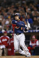 Toshiaki Imae of Japan during World Baseball Championship at Petco Park in San Diego,California on March 20, 2006. Photo by Larry Goren/Four Seam Images