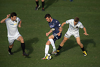 Action from the ISPS Handa Premiership football final between Auckland City FC and Team Wellington at QBE Stadium in Albany, New Zealand on Sunday, 1 April 2018. Photo: Dave Lintott / lintottphoto.co.nz