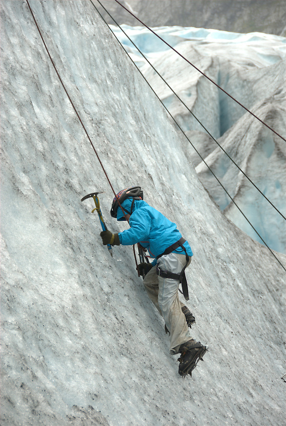 Activities on the glacier