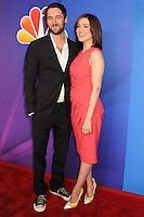 NEW YORK CITY, NY, USA - MAY 12: Ryan Eggold, Megan Boone at the 2014 NBC Upfront Presentation held at the Jacob K. Javits Convention Center on May 12, 2014 in New York City, New York, United States. (Photo by Celebrity Monitor)