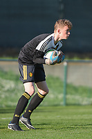 20180417 - TUBIZE , BELGIUM : Belgian Vic Chambaere pictured during the friendly  soccer match between  under 15 teams of  Belgium and Switzerland , in Tubize , Belgium . Tuesday 17 th April 2018 . PHOTO SPORTPIX.BE / DIRK VUYLSTEKE