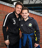 Blackburn Rovers' Adam Armstrong and Southend United's Ben Coker<br /> <br /> Photographer Rachel Holborn/CameraSport<br /> <br /> The EFL Sky Bet League One - Blackburn Rovers v Southend United - Saturday 7th April 2018 - Ewood Park - Blackburn<br /> <br /> World Copyright &copy; 2018 CameraSport. All rights reserved. 43 Linden Ave. Countesthorpe. Leicester. England. LE8 5PG - Tel: +44 (0) 116 277 4147 - admin@camerasport.com - www.camerasport.com