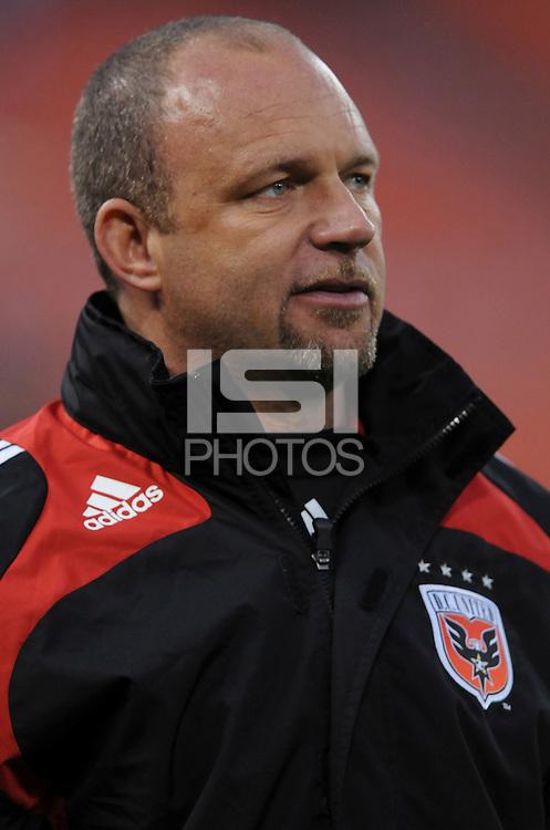DC United Head Coach Tom Soehn.  Chicago Fire tied DC United 1-1 at  RFK Stadium, Saturday March 28, 2009.
